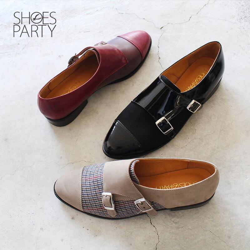 【C2-18127L】英倫風拼接孟克鞋_Shoes Party 0
