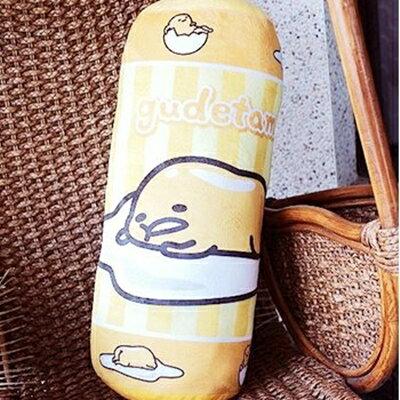 美麗大街【104110401】12吋可愛 療癒 蛋黃哥圓筒抱枕 靠枕