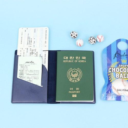 【FENICE】點點造型證件護照套-深藍
