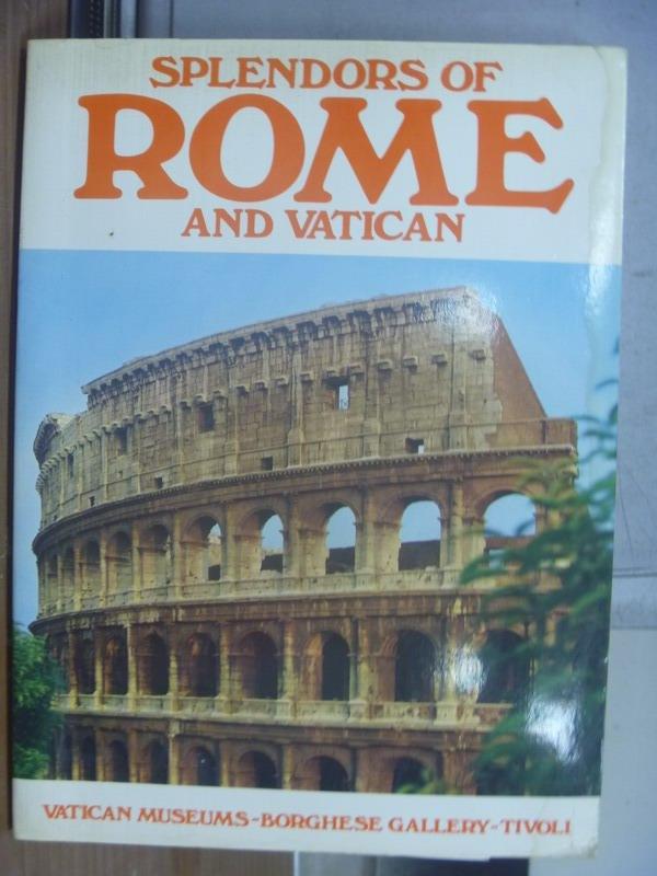 ~書寶 書T9/原文書_QCD~Splendors of rome and vatican