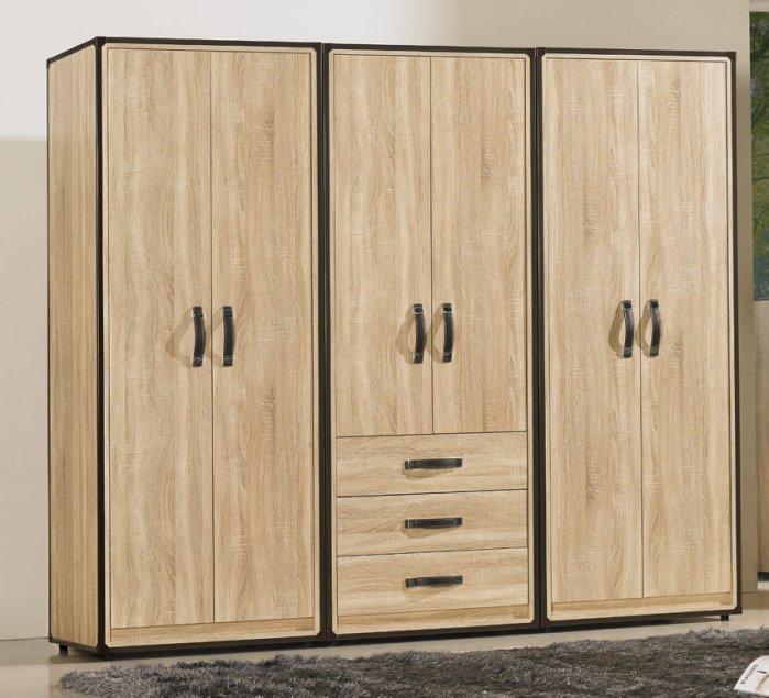 【尚品家具】JF-039-6 溫蒂2.5尺橡木紋雙吊衣櫃