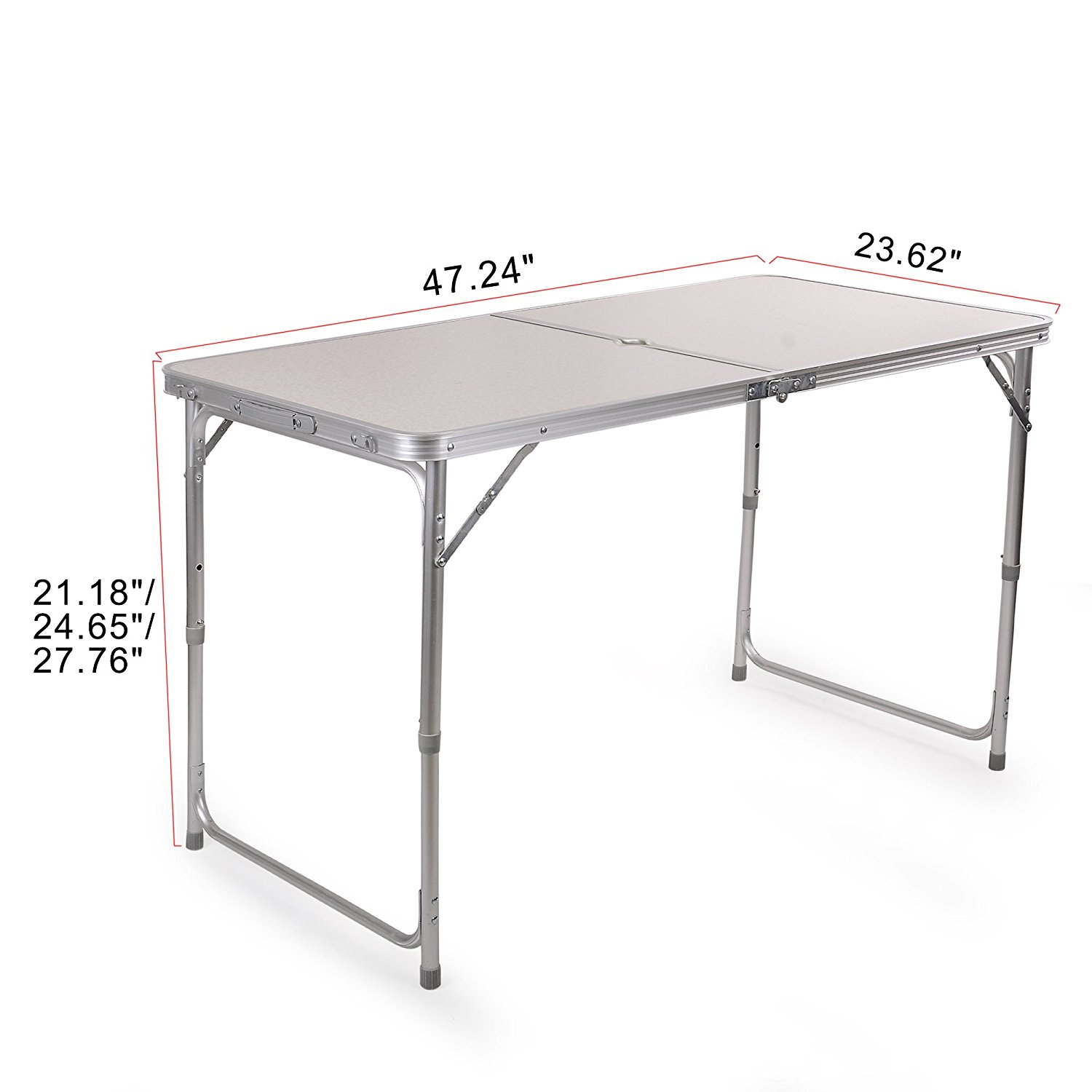 Portable Height Adjustable Aluminum Folding Camping Table Ft Acft1 1