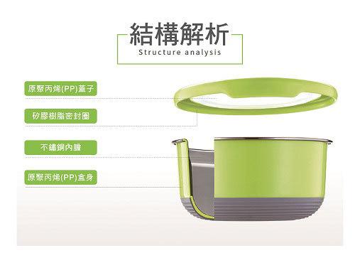 TOP-CHEF 不鏽鋼保鮮碗- 顏色隨機出貨(1200ML) [大買家] 6
