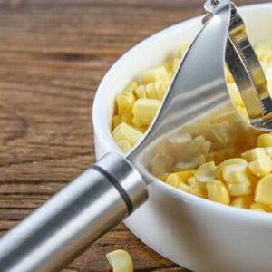 美麗大街【BFG59E868F76230E】加厚304不銹鋼玉米刨粒器玉米刨 長柄鋸齒玉米剝離器削玉米刀