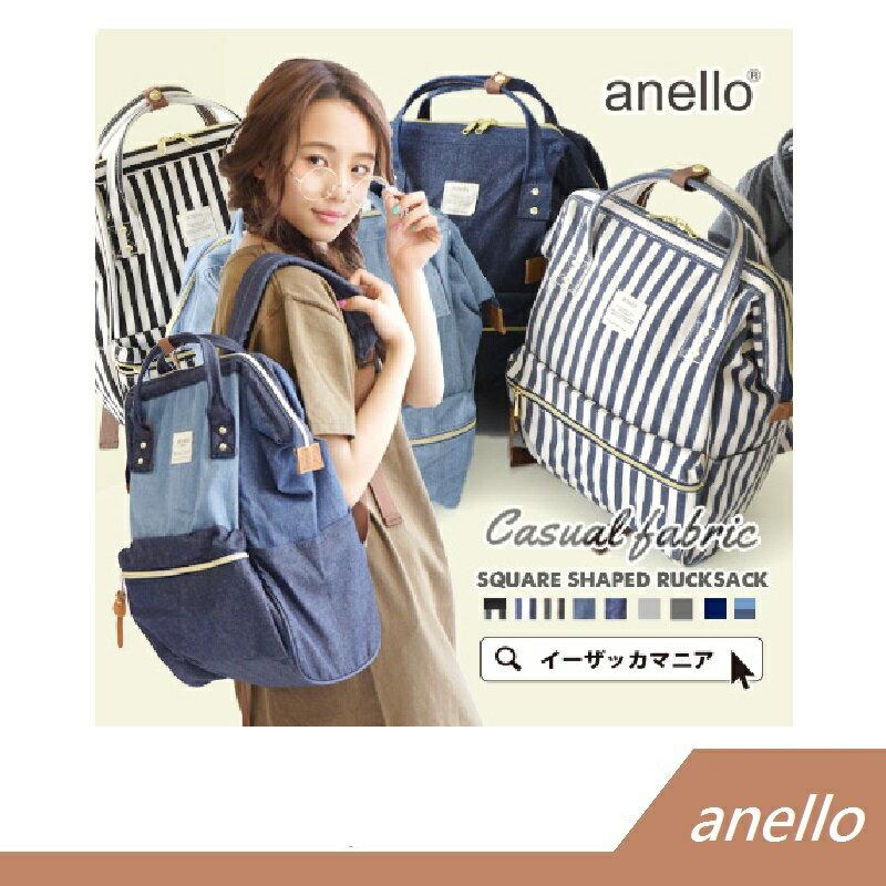 Anello 牛仔布材質 後背包 大口包 官方授權專櫃正品 【RH shop】日本代購