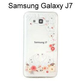 施華洛世奇彩鑽透明軟殼 [天鵝戀] Samsung J700F Galaxy J7