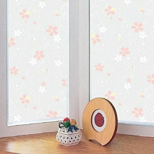 日本MEIWA抗UV節能靜電窗貼 (日式小花) - 46x100公分