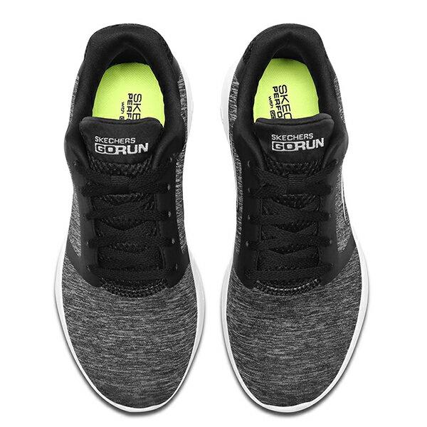 Shoestw【15071BKW】SKECHERS 慢跑鞋 GO RUN 600 麻灰黑 網布 瑜珈鞋墊 女款 2
