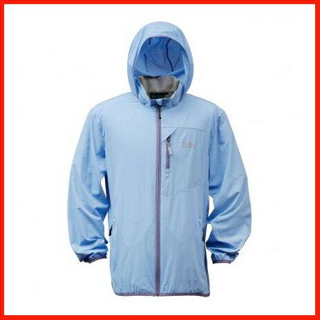 男抗UV單層風衣 - 煙藍 3450 0