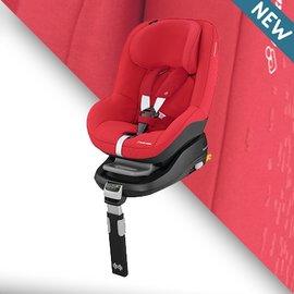 【淘氣寶寶】荷蘭Maxi-CosiPearl汽車安全座椅【亮紅】+Maxi-cosiFamilyFix智慧型汽座底座組合