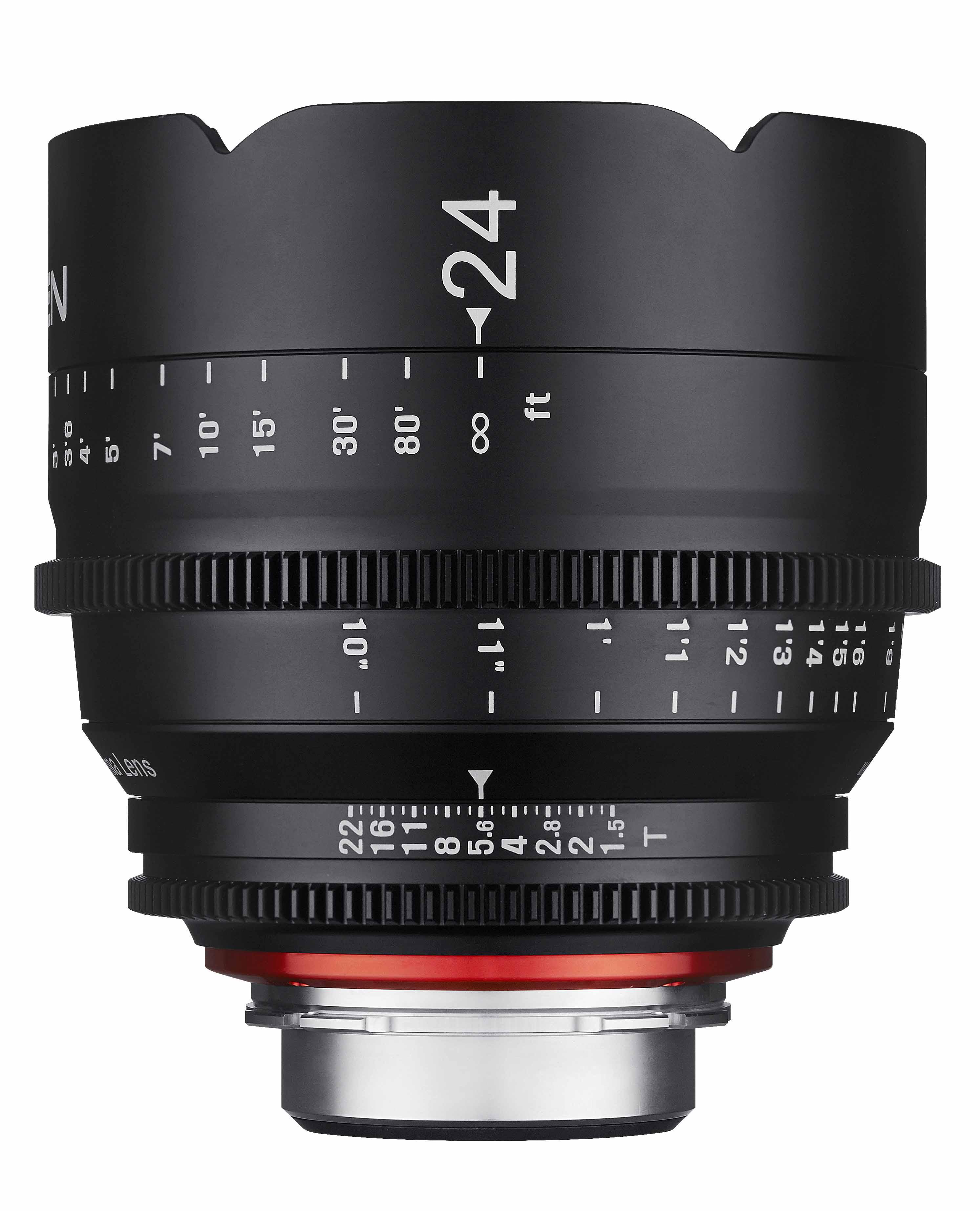 Samyang XEEN電影鏡頭專賣店:24mm/T1.5