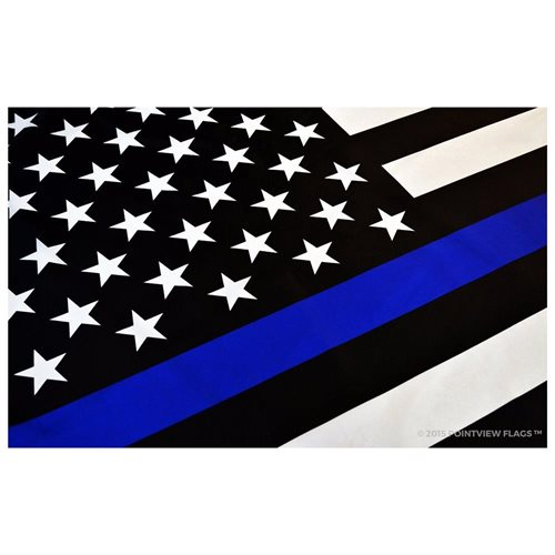 51dbc4c50318 5 Thin Blue Line American Flag Blue Lives Matter Police Support Law  Enforcement 3 x 5