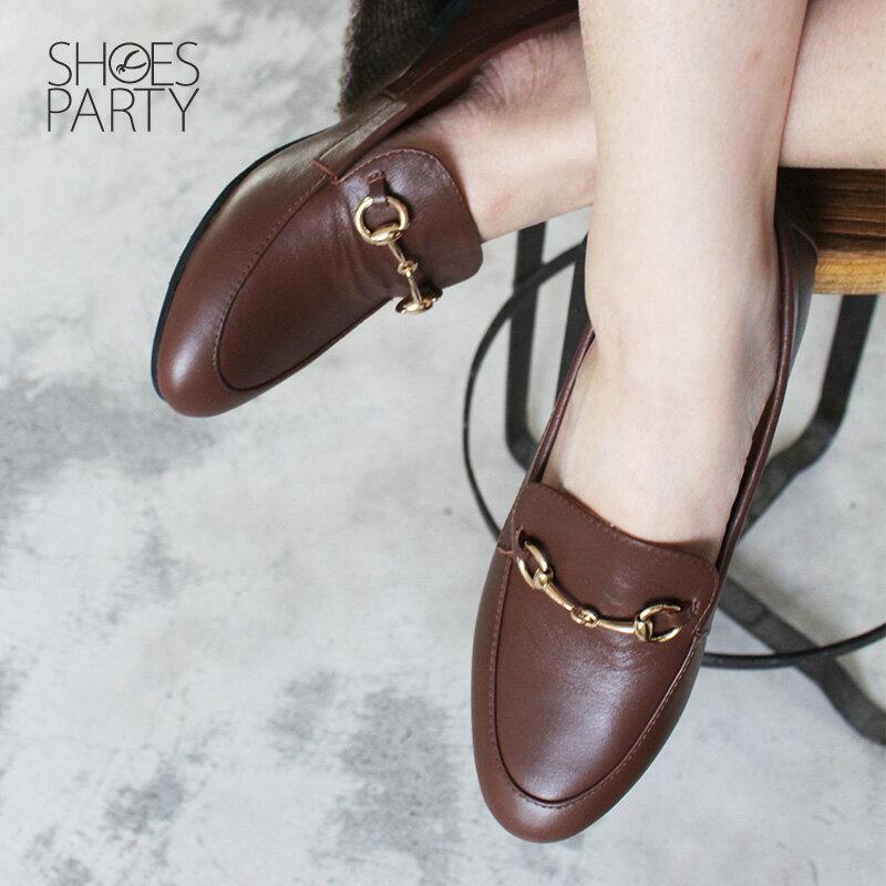 【C2-18129L】真皮鍊條樂福鞋_Shoes Party 4