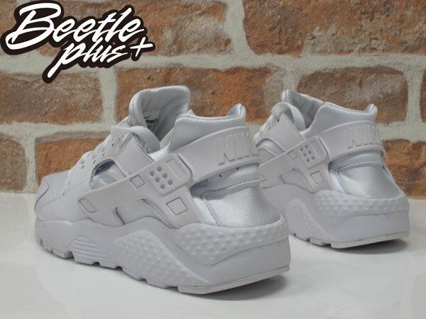 女鞋 BEETLE NIKE HUARACHE RUN GS 全白 白武士 復古 運動鞋 慢跑鞋 654275-110 2