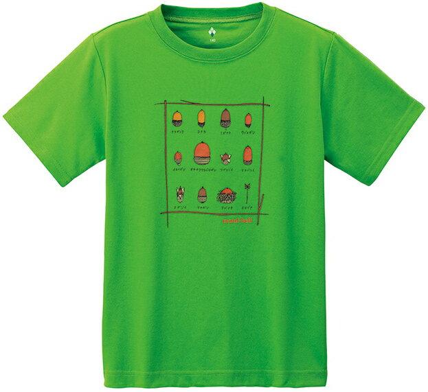 Mont-Bell 兒童排汗短T/幼童排汗衣 Wickron 1114187 1114188 PMGN 橡果純綠