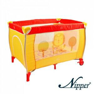 Nipper--可愛動物雙層遊戲床【點點紅色】附蚊帳
