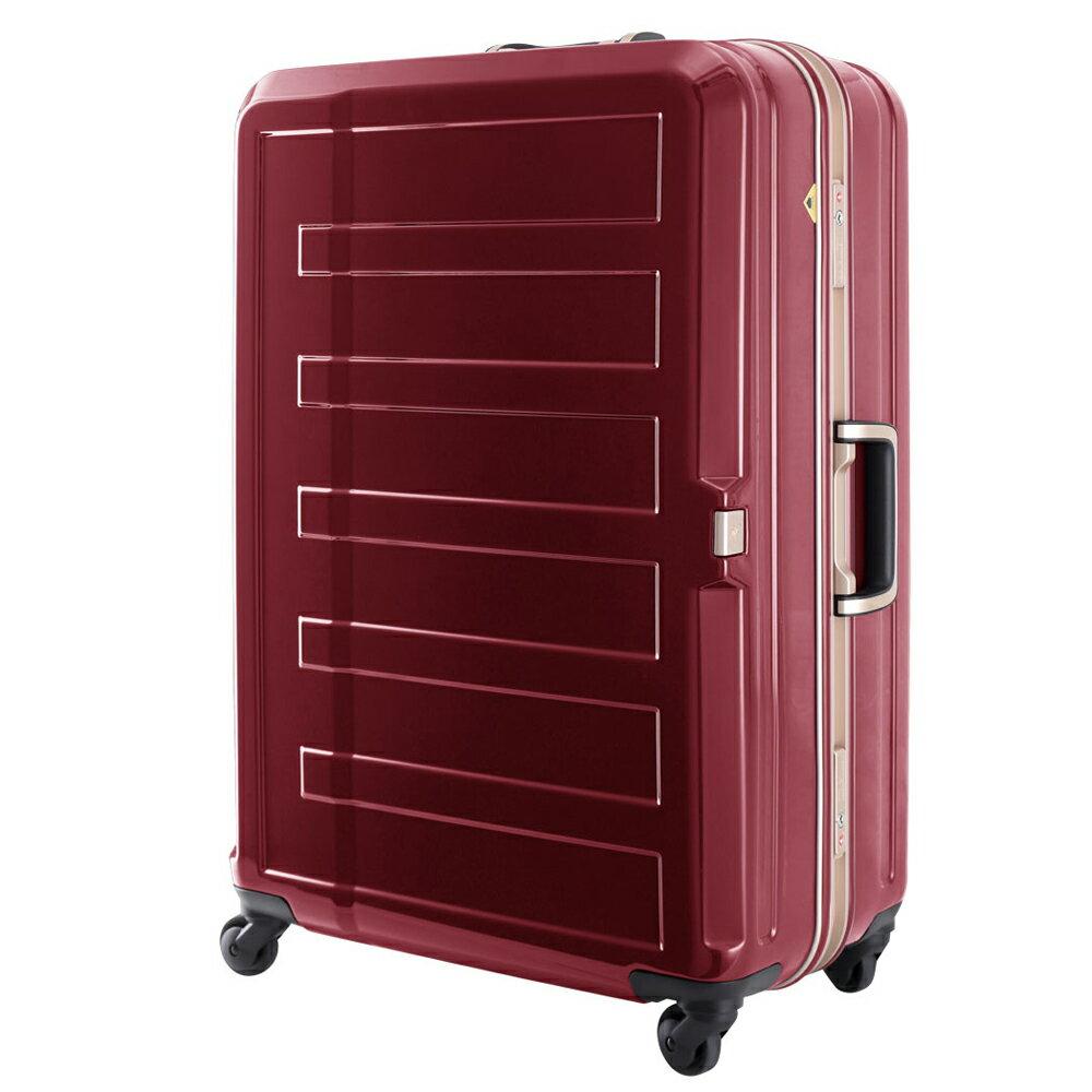 日本 LEGEND WALKER 5188-60-24吋 鋁框輕量行李箱 銀紅