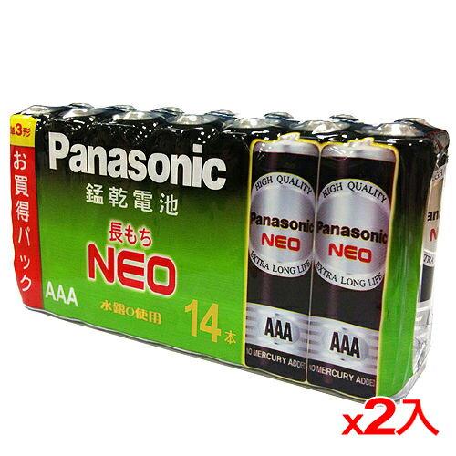 ★2件超值組★國際牌 黑錳乾電池4號 14入/組【愛買】