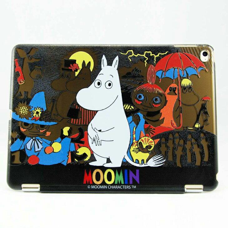 Moomin 嚕嚕米正版授權 -【 荒島上的Moomin(黑) 】:《 iPad Mini/Air/Pro 》水晶殼+Smart Cover(磁桿)