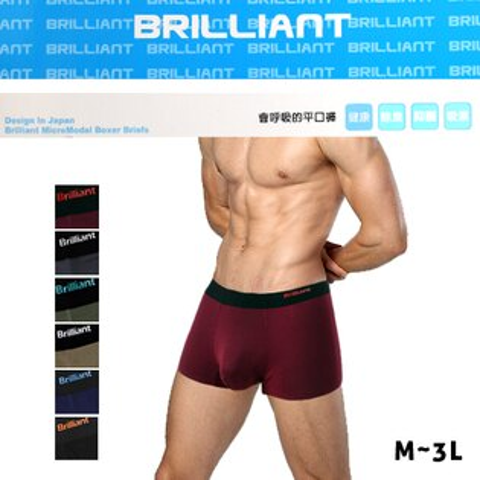 布萊恩莫代爾全彈性四角褲會呼吸的平口褲BRILLIANT殷東