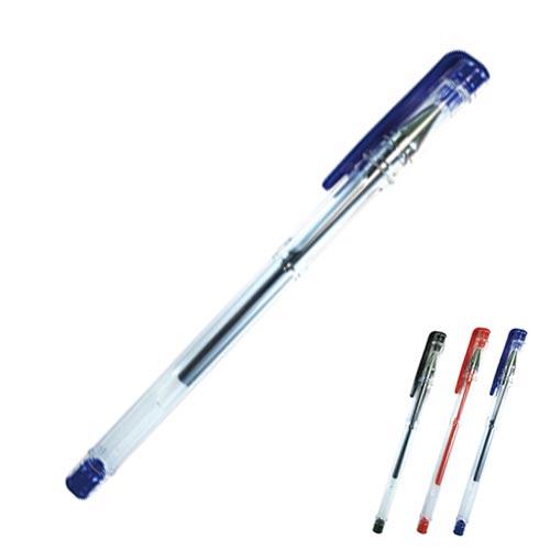 史代新文具:大豪全針管0.5中性筆藍色(12入盒)