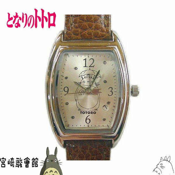 【真愛日本】15020600008 酒桶造型錶-站姿撐傘銀 龍貓 TOTORO 豆豆龍 手錶 時尚錶 圓錶
