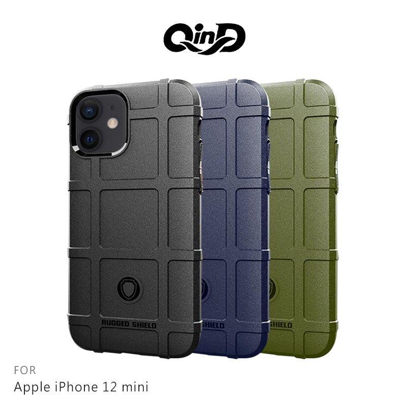 QinD Apple iPhone 12 mini (5.4吋) 戰術護盾保護套