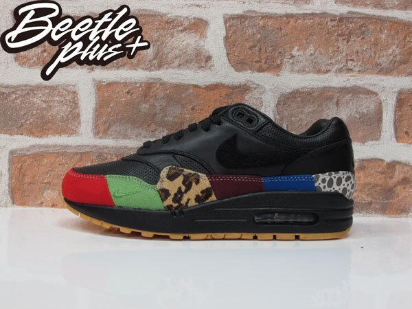 西門町 BEETLE PLUS NIKE AIR MAX 1 MASTER 豹紋 班馬 彩虹 910772-001 24 24.5 CM D-688