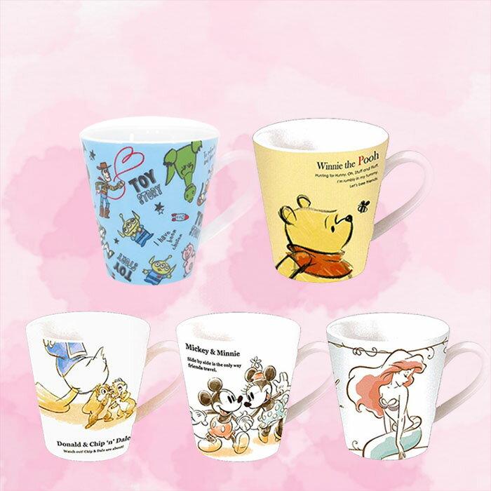 迪士尼 皮克斯 米奇米妮 唐老鴨 奇奇蒂蒂 小熊維尼 小美人魚 玩具總動員 馬克杯 陶瓷杯 日本進口正版 824849