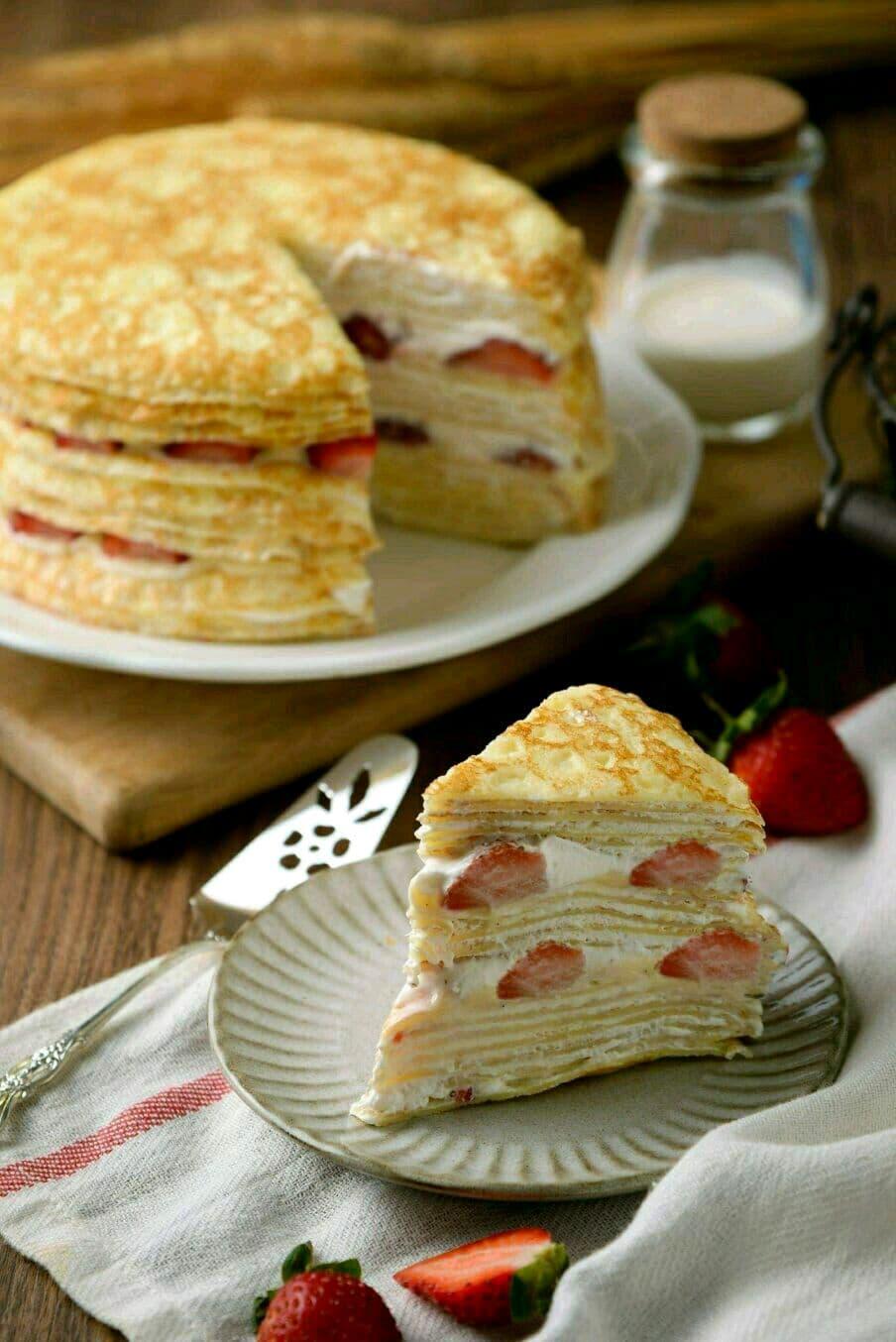 【 草莓千層蛋糕】 ⛄冬季限定❄️ 法式千層首選  6吋 1
