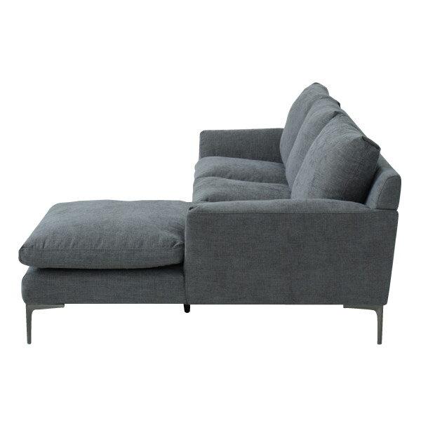 ◎布質左躺椅L型沙發 KF2037 DGY NITORI宜得利家居 2