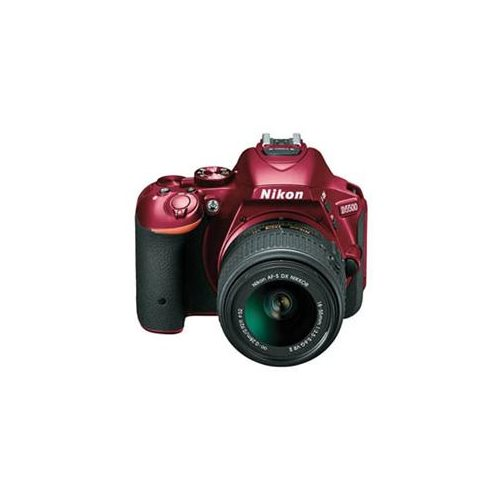 "Nikon D5500 24.2 Megapixel Digital SLR Camera with Lens - 18 mm - 55 mm - Red - 3.2"" Touchscreen LCD - 16:9 - 3.1x Optical Zoom - i-TTL - 6000 x 4000 Image - 1920 x 1080 Video - HDMI - PictBridge - HD Movie Mode - Wireless LAN 1"