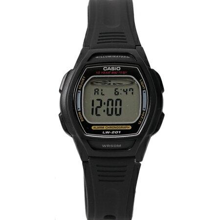 CASIO卡西歐 基本黑色酒桶造型多功能電子運動手錶腕錶 超薄輕巧 柒彩年代【NE1785】原廠公司貨