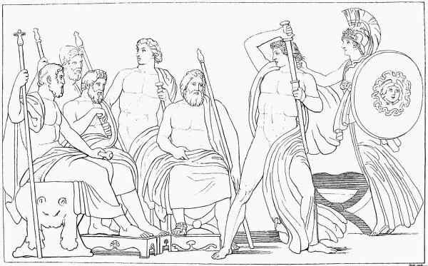 Posterazzi: Homer The Iliad Nminerva Repressing The Fury