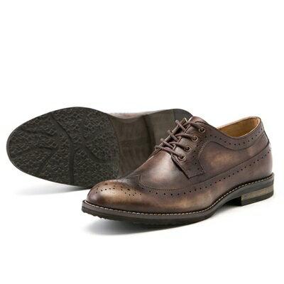 短靴真皮繫帶靴子-英倫時尚巴洛克雕花男靴2色73kk62【獨家進口】【米蘭精品】