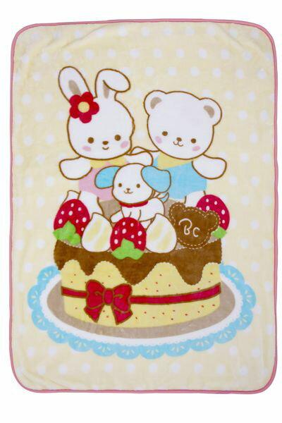 Baby City 娃娃城 - 輕柔觸感 蛋糕熊盒裝童毯 0
