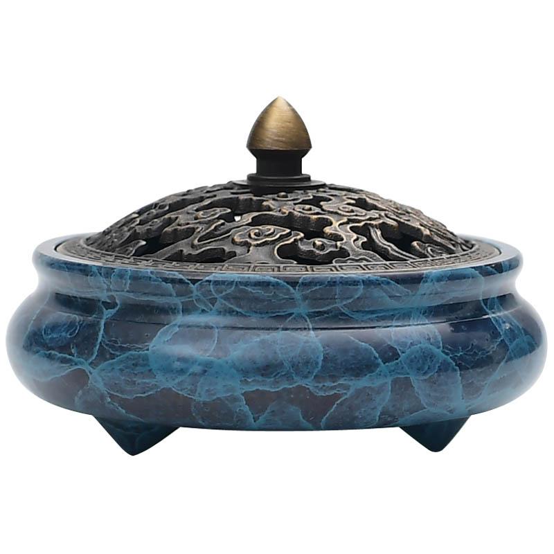 紫巔香爐純銅家用室內小號仿古塔香檀香爐禪意供佛居室沉香盤香爐