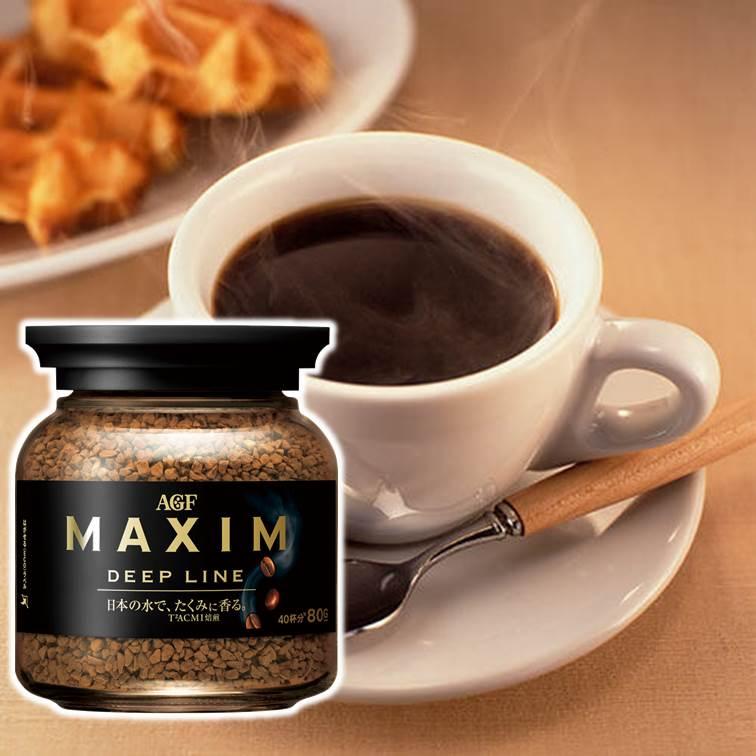 AGF Maxim DEEP LINE - 濃郁深煎咖啡 即溶咖啡粉 日本進口 80g ???? ?????????? ???????