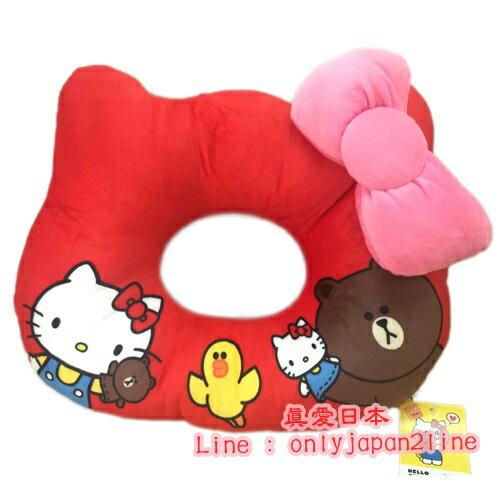 【真愛日本】16092600001聯名美臀坐墊-KT熊大紅  三麗鷗Hello Kitty凱蒂貓 靠墊 坐墊 居家用品
