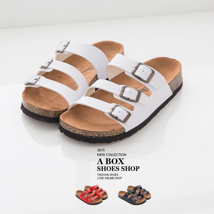 格子舖*【AS458】MIT台灣製 超值高質感casual基本款女款皮革羅馬風 懶人鞋 3色