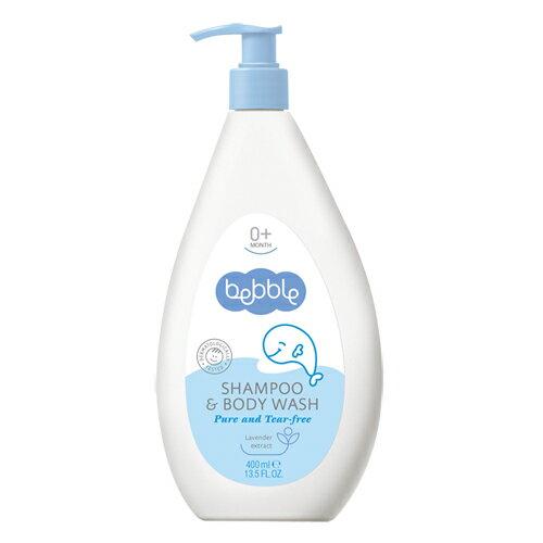 Bebble貝朵新生兒植萃洗髮沐浴露(二合一)400ml