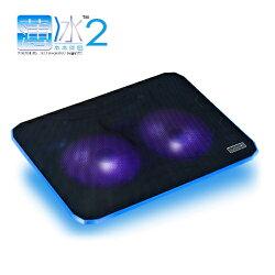 【A-HUNG】通用時尚薄型 筆電散熱墊 靜音雙風扇 筆記型電腦 散熱器 散熱座 散熱盤 排熱墊 USB風扇 LED燈
