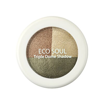 【即期良品】韓國the SAEM Eco Soul 三色眼影盤-6.5g Eco Soul Triple Dome Shadow【辰湘國際】 2