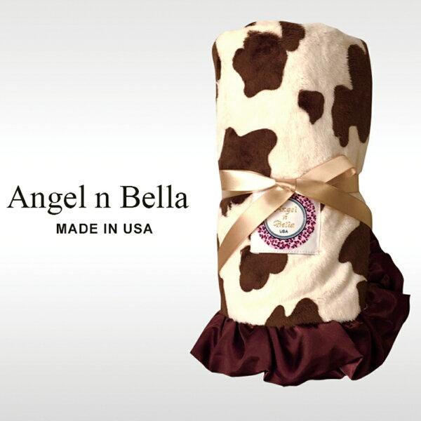 【麗嬰房】美國AngelnBella頂級攜帶毯-拿鐵小牛