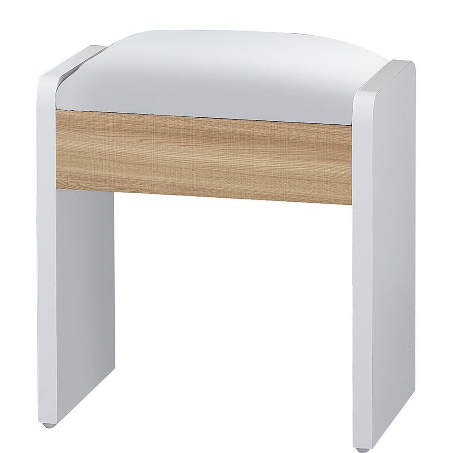 【石川家居】LU-473-3 艾美爾北美橡木化妝椅(單張)