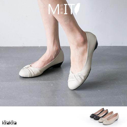 包鞋  SALE  MIT氣質經典素面扭結厚底坡跟鞋【011600068】-預購