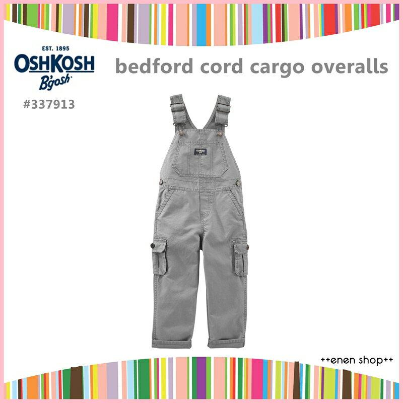 Enen Shop @OshKosh B'gosh 灰色款口袋工作吊帶褲∥12M/18M/24M/2T/3T/4T