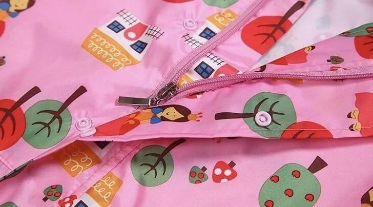 兒童滿版圖連身雨衣(三色)