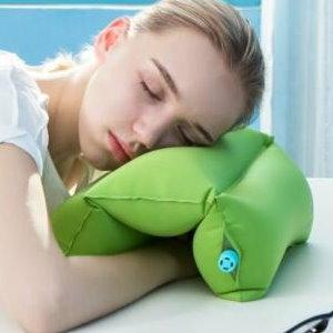 美麗大街【BF542E5】SAFEBET超軟TPU辦公室充氣午睡午休神器護頸趴睡枕