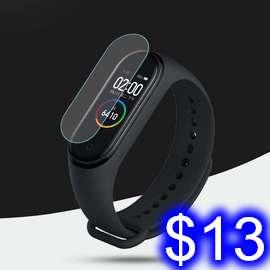 小米手環4 螢幕保護貼膜 小米手環4代 PAC手錶螢幕保護膜 高清 手錶手環膜 軟膜(易撕款)無開孔一片帶包裝